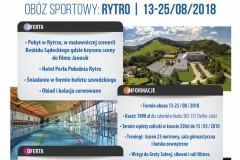 """ULOTKA - Letni obóz sportowy """"Śladami Janosika na sportowo"""""""
